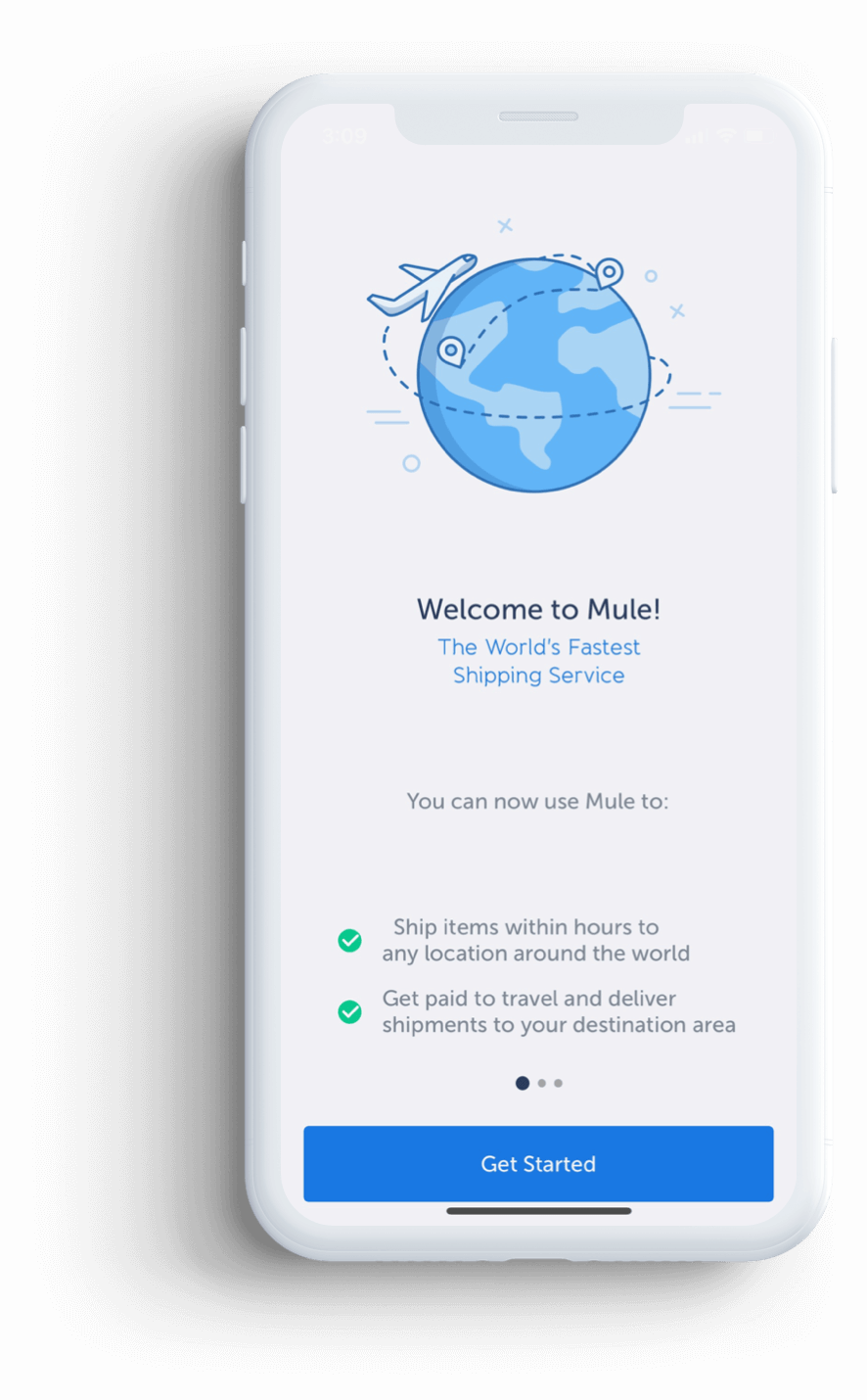 Mule, the world's fastest shipping service. mockup image